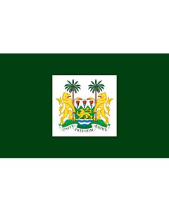 Drapeau: President of Sierra Leone | Standard of the President of Sierra Leone
