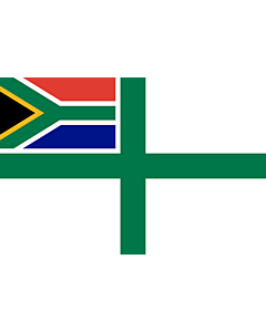 Drapeau: Naval Ensign of South Africa