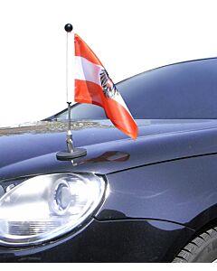 Porte-drapeau de voiture Diplomat-1.30 Autriche avec blason d'autorités publiques  à adhésion magnétique