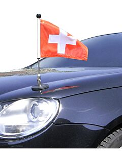 Porte-drapeau de voiture Diplomat-1.30 Suisse à adhésion magnétique