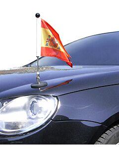 Porte-drapeau de voiture Diplomat-1.30 Espagne avec blason d'autorités publiques  à adhésion magnétique