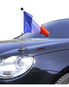 Porte-drapeau de voiture Diplomat-1.30 France à adhésion magnétique