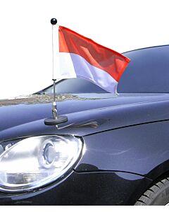 Porte-drapeau de voiture Diplomat-1.30 Monaco à adhésion magnétique