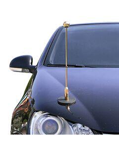 Porte-drapeau de voiture Diplomat-1.30-Gold  à adhésion magnétique
