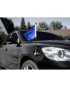Porte-drapeau de voiture Diplomat-Bayonet-Gold