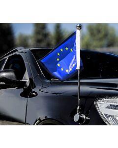 Porte-drapeau de voiture Diplomat-Bayonet-Chrome