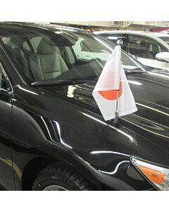 Porte-drapeau de voiture Diplomat-Z-Chrome