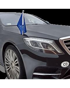 Porte-drapeau de voiture Diplomat-Z-Chrome-MB-W222  pour Mercedes-Benz Classe-S W222 (2013-)