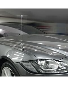 Porte-drapeau de voiture Diplomat-Z-Chrome-PRO-Jaguar-XF-X260  pour Jaguar-XF-X260 (2015-)
